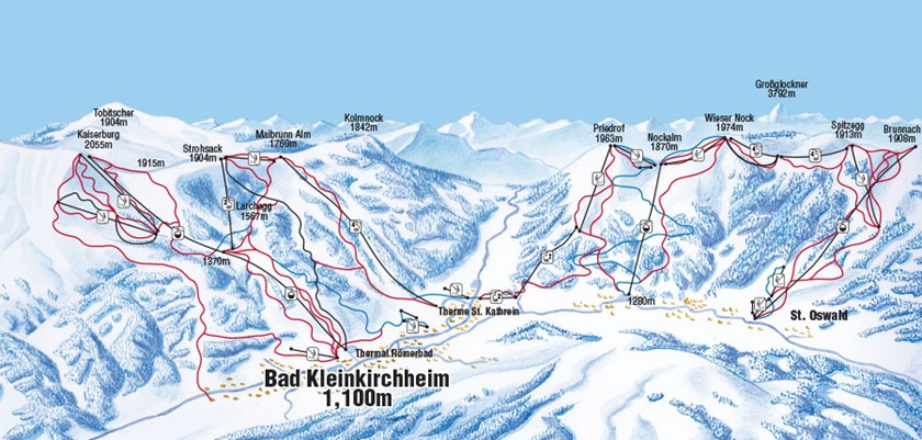 Bad Kleinkircheim Piste Map