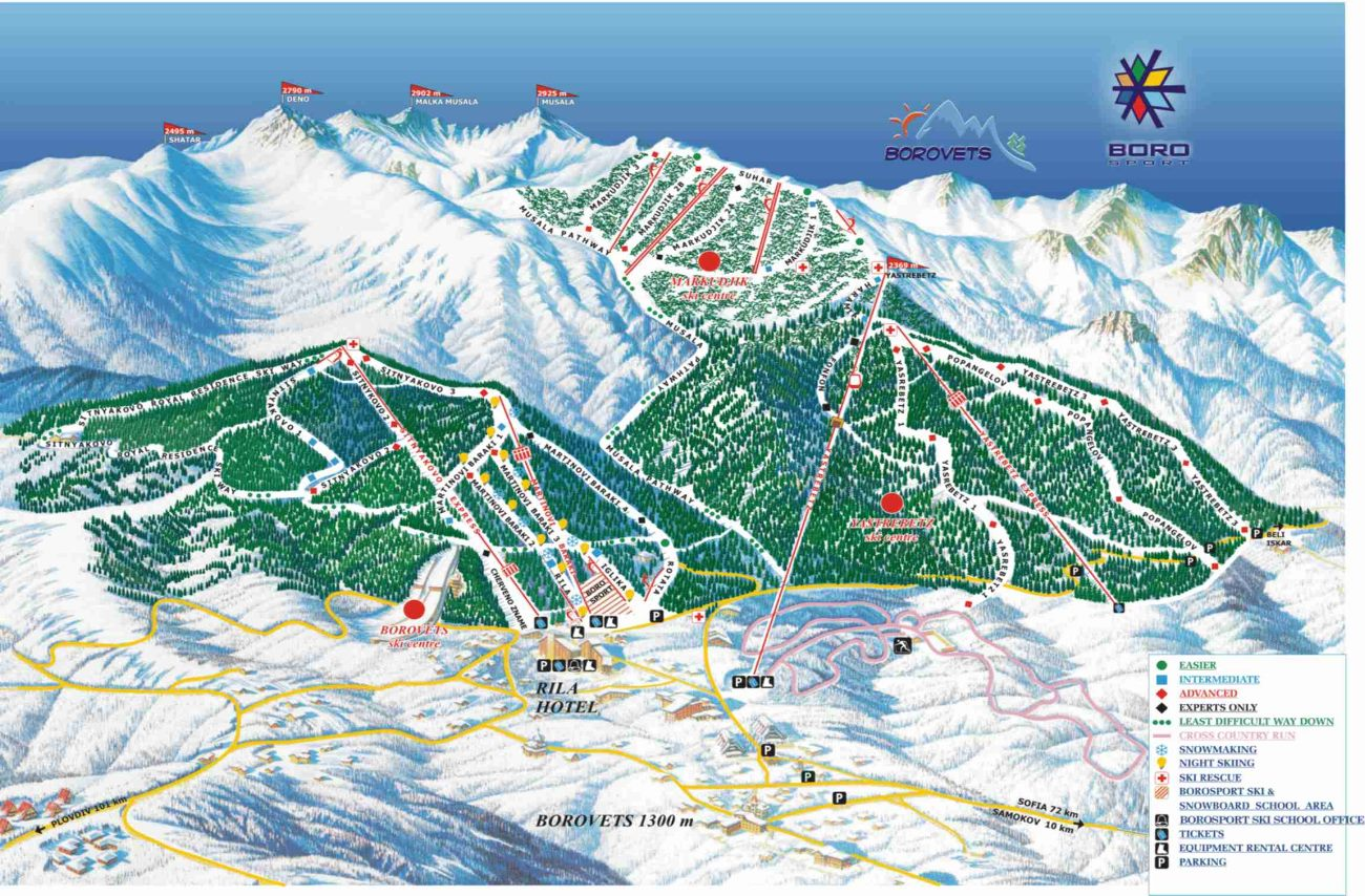 Borovets Piste Map