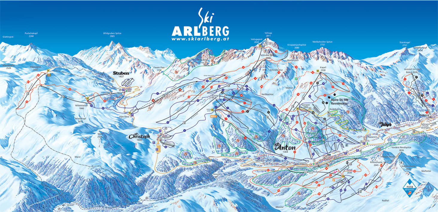 St Christoph Piste Map