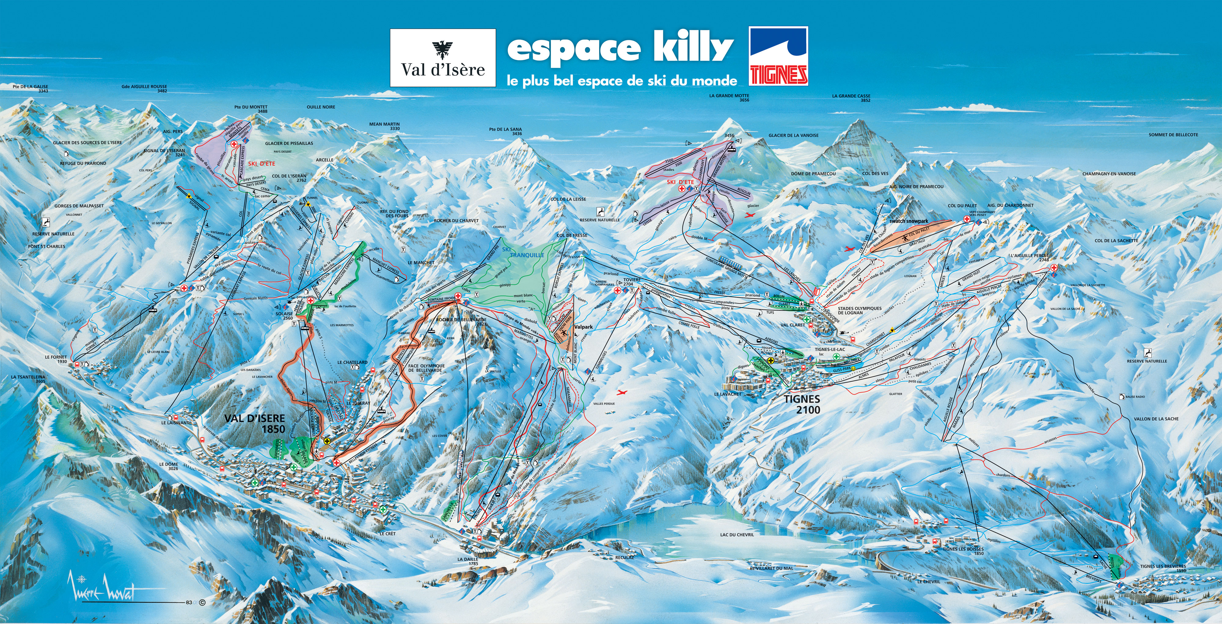 Val d'Isere Piste Map
