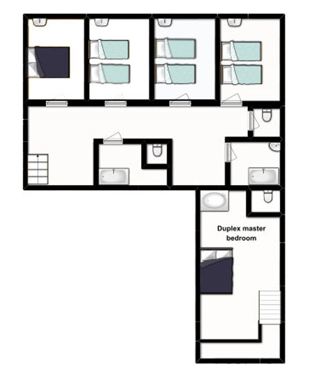 Perfect first floor chalet la vieille maison with plan for Plan maison 100m